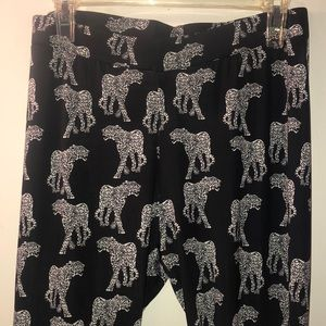 H&M leopard leggings size 12